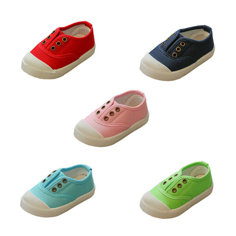 Rubber-Toe Canvas Sneakers