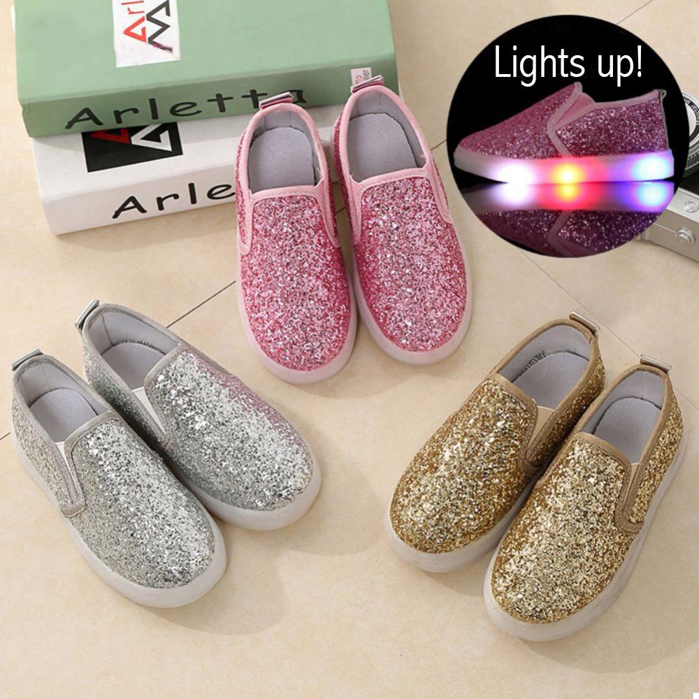 LED Glitter Slip-ons
