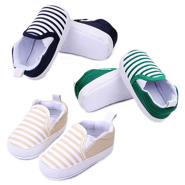 Striped Canvas Slipons